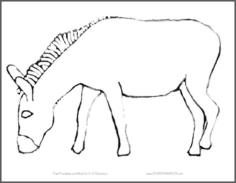 printable donkey templates click here to print the donkey without its tail
