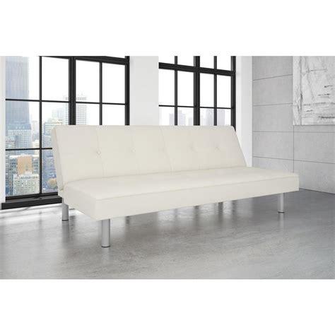 double size futon dhp white nola twin double size futon 2051109 the home depot