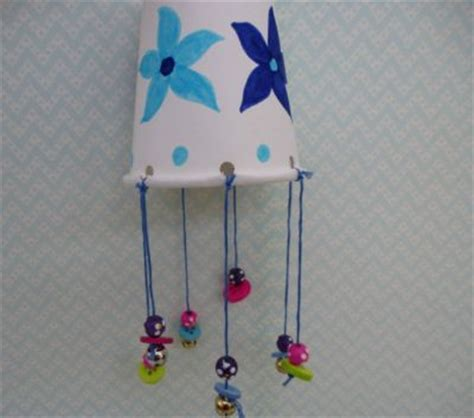 Paper Cup Crafts For Preschoolers - paper cup wind chimes to tinkle in the 3th