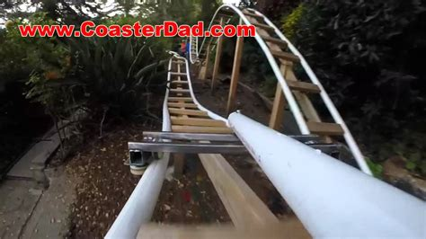 diy backyard roller coaster the coasterdad project a backyard roller coaster built by