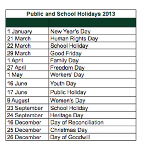 south african school terms and public holidays 2016 public holidays 2013 south africa ask nanima