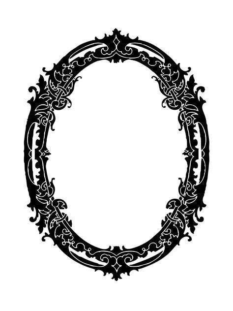 decorative oval border dekorative ovalen rahmen clipart kostenloses stock bild