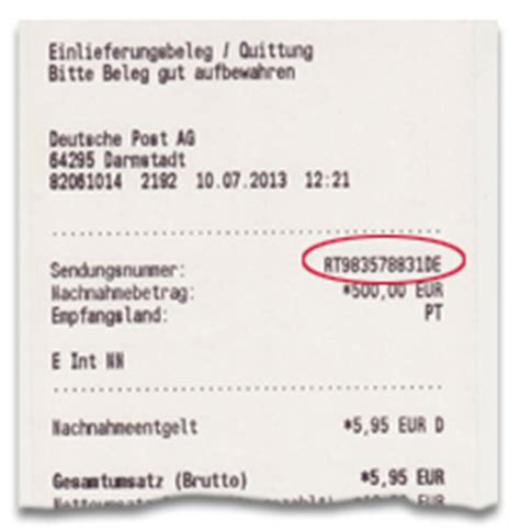 Post Office Tracking Numbers by Deutsche Post Letter Item Status