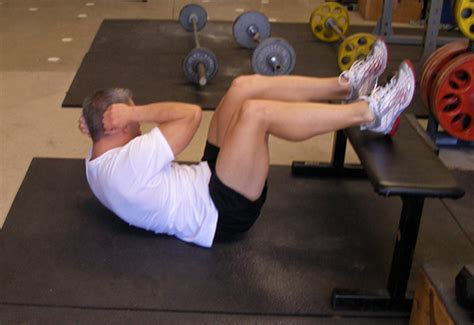 crunch bench exercises twisting crunches abdominal exercise