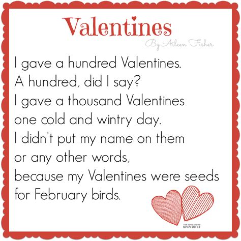 valentines rhymes the educators spin on it 100th day of school activities