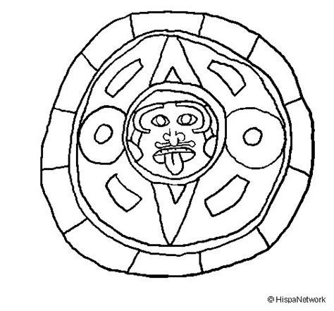 mayas imagenes dibujos dibujo de calendario maya para colorear dibujos net