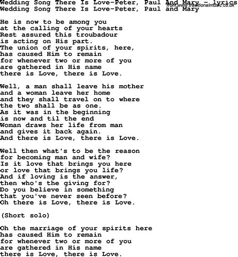 wedding song with lyrics song lyrics for wedding song there is