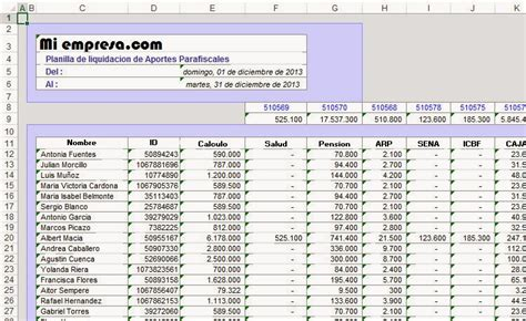 calculo de nomina quincenal 2016 calculo nominas 2016 excel nomina y calculo del impuesto