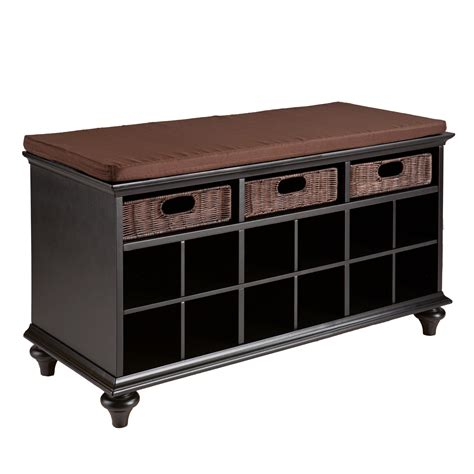 storage bench with shoe rack mudroom entry shoe rack bench storage cushion chair seat
