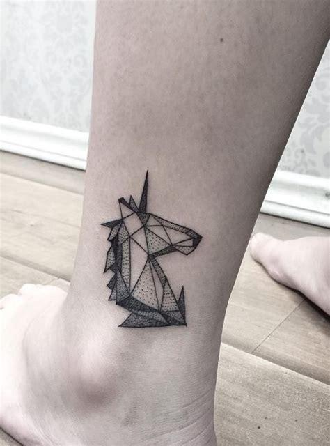 small unicorn tattoos geometric unicorn inked magazine tattoos