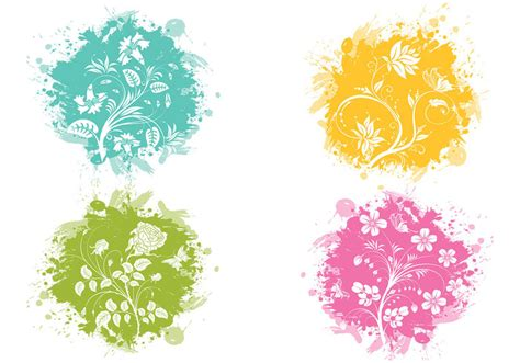 flower brush splatter flower brush pack free photoshop brushes at