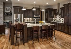Ranch Floor Plans With Large Kitchen rustic chic lakehouse transitional kitchen omaha