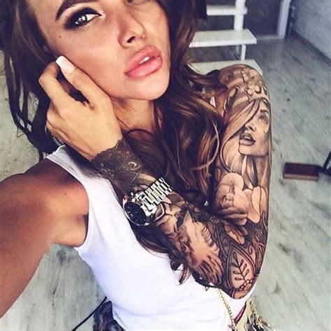 tattoo girl full 25 best ideas about girl sleeve tattoos on pinterest