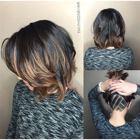 short hair with length at the nape of the neck mulpix gorgeous wavy bob cool undercut nape hair by