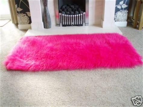 pink fluffy rugs pink faux sheepskin shaggy fluffy rug 54x27 on ebay ballerina room