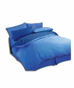 non iron duvet sets blue reversible plain dye non iron duvet set