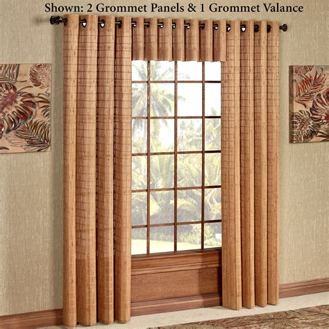 bamboo drapes window treatments bamboo light filtering grommet window treatment