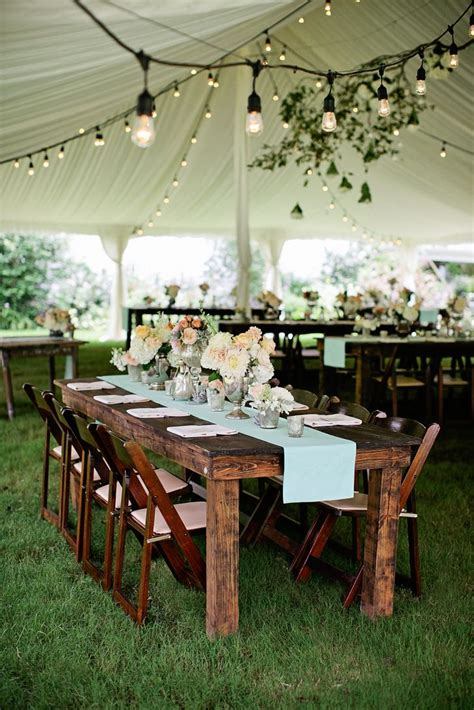 elegant rustic reception decor