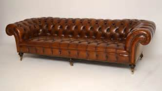 antique leather chesterfield sofa large antique leather chesterfield sofa