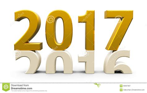 new year 2016 and 2017 or 2016 2017 illustration stock image 69097987