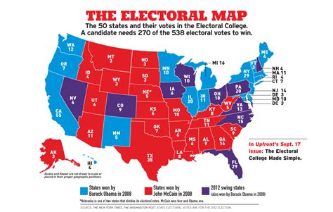 map of us states electoral votes the electoral map the new york times upfront