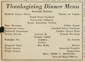 thanksgiving dinner menu traditional thanksgiving at the basic training camp greensboro 1943