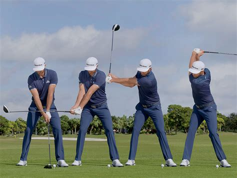 golf swing sequence video swing sequence dustin johnson australian golf digest