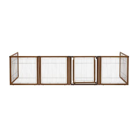 Convertible Elite Pet Gate 6 Panel Dog Pen Room Divider Pet Room Dividers