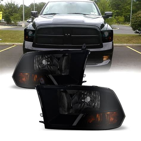 smoked dodge ram headlights 09 16 dodge ram 1500 2500 3500 replacement