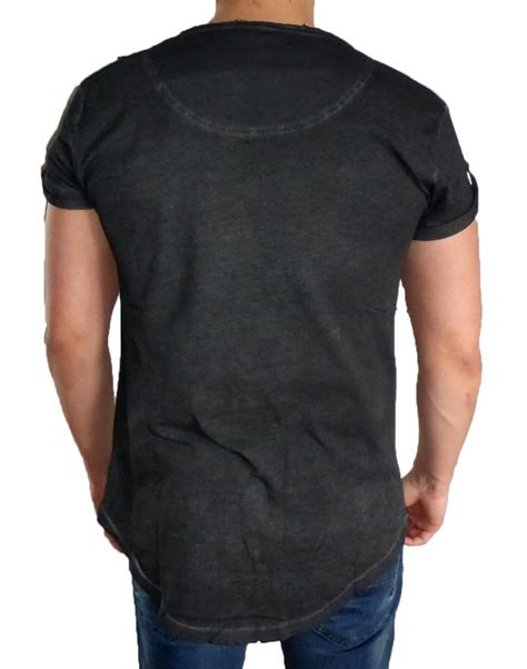 T County Contemporary Mens Clothing Line With A Rugged Edge by Busted Contemporary Line T Shirt Herren Washed Schwarz