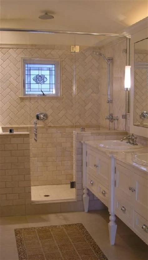 Bathroom Vanity Tile Ideas Design Moe Bathrooms Tiles Chevron Herringbone Pattern Shower Surround White