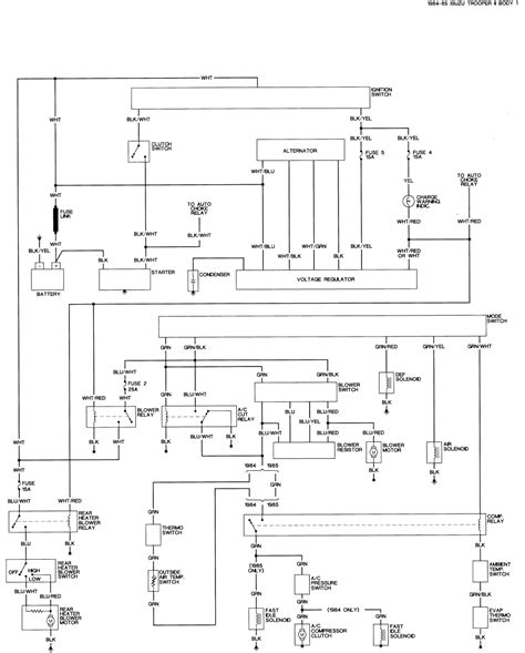 99 isuzu rodeo wiring diagrams wiring diagram