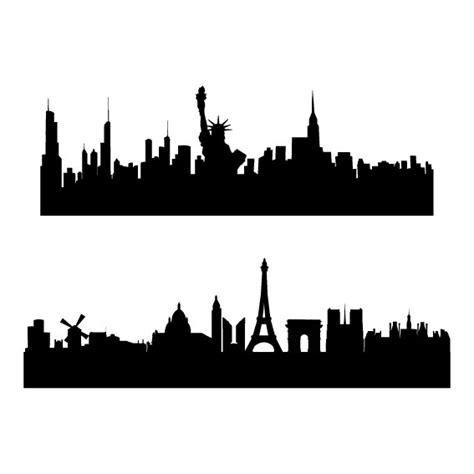 3d Wall Stickers For Kids wall stickers adesivo murale skyline new york amp parigi