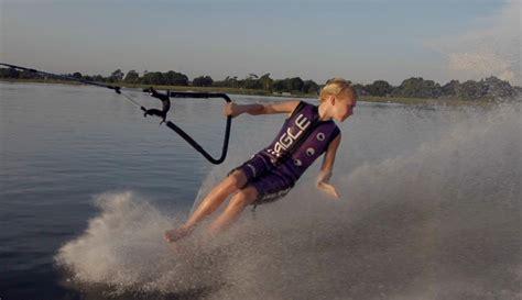 1 year water skiing 12 year barefoot waterskiing phenom jackson gerard