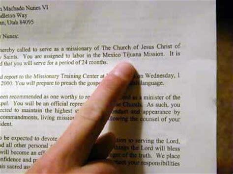 Lds Acceptance Letter Exle Mission Call Letter Mormon Mission Prep
