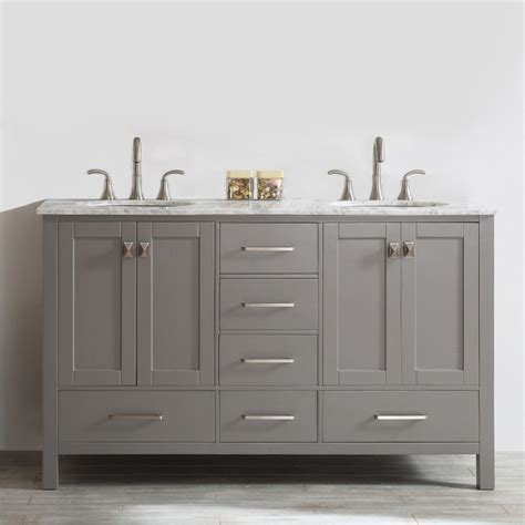 Where Can I Find Bathroom Vanities Corniche 60 White Sink Vanity By Studio Bathe Fresca Vista Black Acrylic And Resin 60