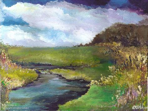 acrylic painting river river s edge iii painting abstract acrylic by