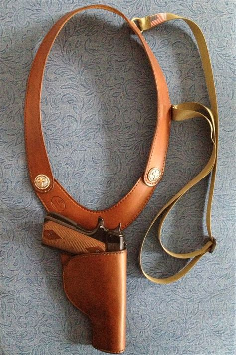 Handmade Leather Shoulder Holster - custom leather shoulder holster www imgkid the