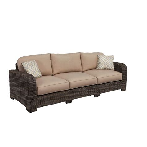 custom sofa cushions brown northshore patio sofa with sparrow cushions and bazaar throw pillows custom