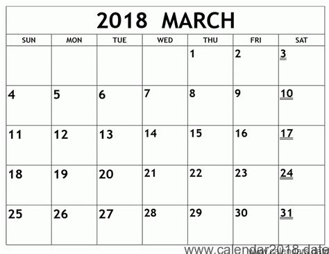 printable calendar for march 2018 free printable calendar march 2018 free printable