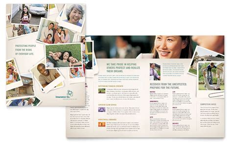 insurance brochure template insurance company brochure template design
