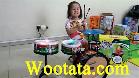 Mainan Anak Drum Hijau jual flash rock drum mainan drum anak paling murah