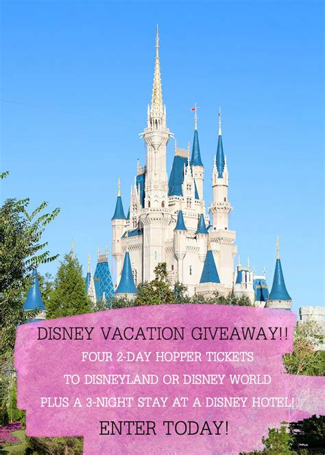 Disney Vacation Giveaway - disney vacation giveaway i heart nap time