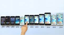 ALL iPhones Compared! iPhone 6S vs 6S vs 6 Plus vs 6 vs 5s vs 5c vs 5 vs 4s vs 4 vs 3Gs...