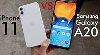 iPhone 11 Vs Samsung Galaxy A20! (Comparison) (Review)