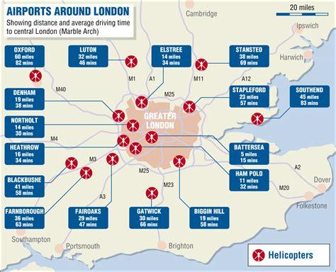Airports around London