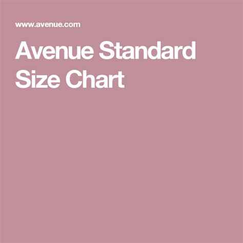 Avenue Plus Size Chart
