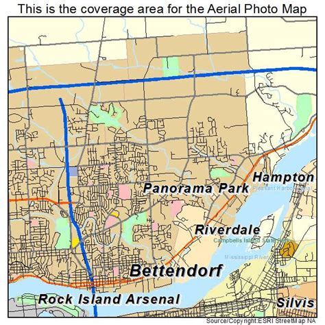 Bettendorf IA Map