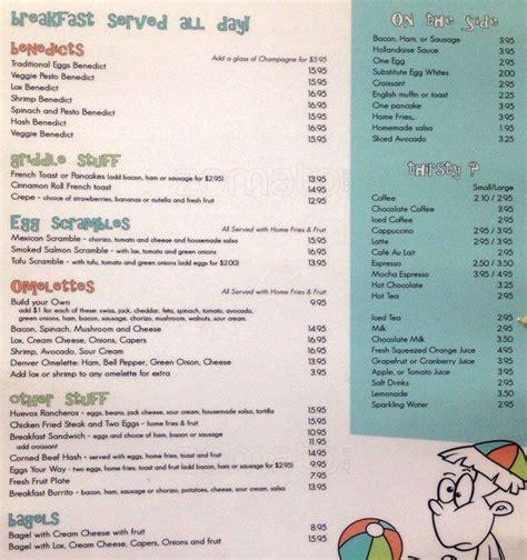 Bridgeway Cafe Sausalito Menu