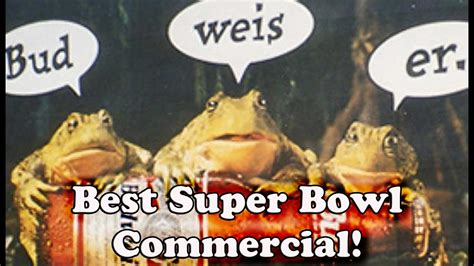 Budweiser Frogs Commercials Super Bowl
